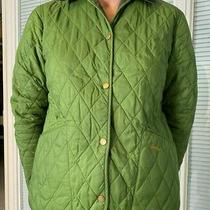 Barbour Jacket Light Green  Size Xl 12/13 to Fit Child or Small Women's Size 10 Photo