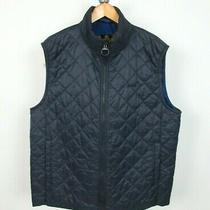 Barbour Keelson Full Zip Quilted Vest Waistcoat Jacket Sz Xxl Men's Navy Blue Photo
