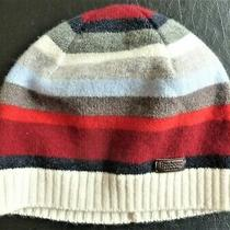 Barbour Ladies Lambswool Hat/beanie Stripes Made in Scotland Photo