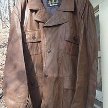 Barbour Leather Outdoor Blazer Brown Size Xxl Photo