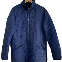 Barbour Liddesdale Quilt Blue Jacket Size L Pre-Owned Condition Photo