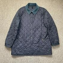 Barbour Liddesdale Quilted Navy Jacket. Xl. Photo