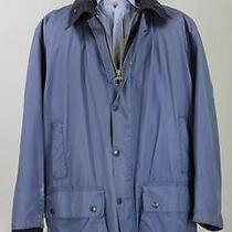 Barbour Light Blue 'Border' Barn Wax Jacket Coat W/ Removable Liner C48/122 Cm Photo