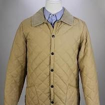 Barbour Light Brown 'Eskdale' Diamond Quilted Barn Jacket Coat Men's Small Photo