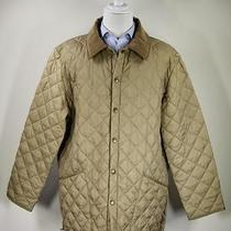 Barbour Light Golden Brown 'Liddesdale' Diamond Quilted Barn Jacket Xl Photo