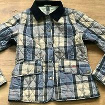 Barbour Light Weight Checked Quilted Slim Fit Jacket Uk 10 Photo