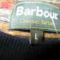 Barbour Men's Crewneck Pullover Sweaters Lot of (2) Size Large Color Multi-C Photo