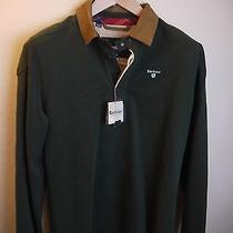 Barbour Men's Eagle Rugby Shirt Green New With Tags Medium Photo
