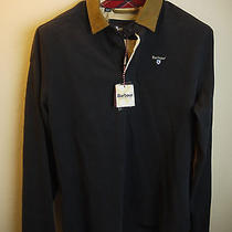 Barbour Men's Eagle Rugby Shirt Navy Blue New With Tags Medium Photo