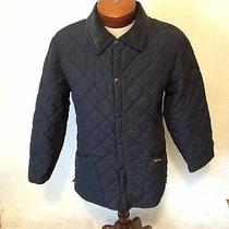 Barbour Men's Eskdale Navy Blue Quillted Barn Field Jacket X Small Photo