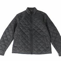 Barbour Men's Jacket Black Size Large L Quilted Full-Zip Pockets 200 099 Photo