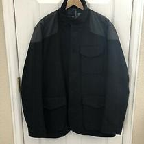 Barbour Men's Large Hayling Navy Wool Jacket Photo