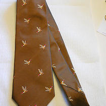 Barbour Men's Silk Tie Pheasant Turkey Bird  Photo