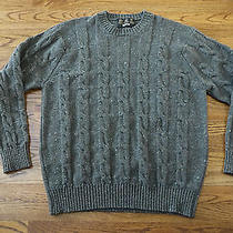 Barbour Men's Wool Cable Chunky Sweater Gray  Sz Xl Scotland Photo