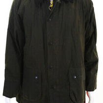 Barbour Men's Zip Up Collared Jacket Brown Size Large Photo