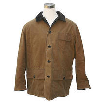 Barbour Mens Barn Jacket Brown Size Xl Waxed Cotton - New - Free Shipping Photo