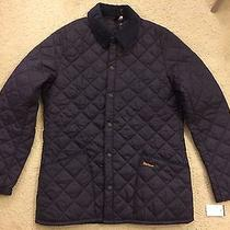 Barbour Mens Barn Jacket New Large Blue Photo