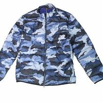Barbour Mens Jacket Navy Blue Size 2xl Camouflage Quilted Full Zip 250 117 Photo