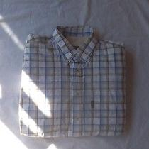 Barbour Mens Large Button Down Plaids and Checks Cton Outdoors Clean Photo