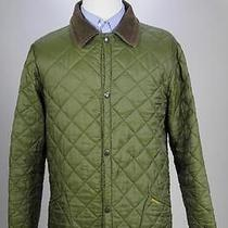 Barbour Mint Green Diamond Quilted 'Liddesdale' Classic Barn Jacket Medium Photo