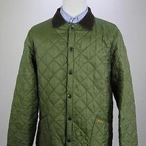 Barbour Mint Green Diamond Quilted 'Liddesdale' Classic Barn Jacket Small Photo