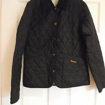 Barbour Navy Blue Quilted Jacket - Size 8  Photo