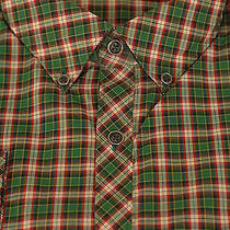 Barbour of England 175 Finsbury Amazon Green Check Casual Shirt L Large Photo