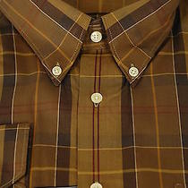 Barbour of England 175 House Brown Tartan Plaid Cotton Casual Shirt Xl Xlarge Photo