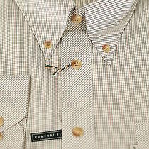 Barbour of England 175 Westminster White & Brown Cotton Casual Shirt Xl Xlarge Photo
