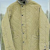 Barbour Olive Green Liddesdale Quilted Barn Jacket Kids Girls Women Boys Sz Xl  Photo