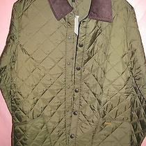 Barbour Olive 'Liddesdale' Quilted Barn Jacket Coat Men's Medium Photo