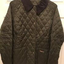 Barbour Olive Quilted Jacket Size L Photo