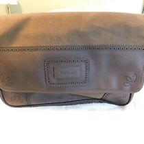 Barbour Olive Wax Cotton & Leather Brogue Messenger Bag Briefcase New W Tags Nr Photo