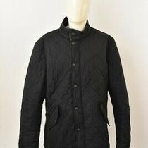 Barbour Powell Men's Quilted Jacket Black Zipped Xl Photo