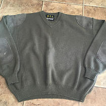 Barbour Pure Wool Military Style v Neck Jumper Sweater Pure Wool Men's C52 Xxl Photo