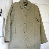 Barbour Quilted Microfiber Jacket. Light Olive Green Women Uk10 Us8 Photo