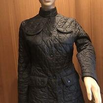 Barbour  Quilted Peplum Women Jacket  Black Size 4 Photo