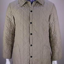 Barbour  Recent Beige Diamond Quilted 'Eskdale' Barn Jacket Men's Large Photo