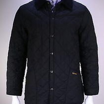 Barbour  Recent Black Diamond Quilted 'Eskdale' Barn Jacket Men's Small Photo