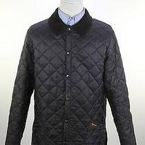 Barbour  Recent Black Diamond Quilted 'Liddesdale' Barn Jacket Men's Medium Photo