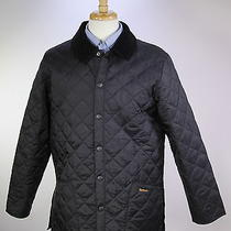 Barbour  Recent Black Diamond Quilted 'Liddesdale' Barn Jacket Men's Small Photo