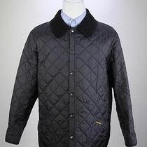 Barbour Recent Black Diamond Qulted 'Liddesdale' Barn Jacket Men's Large Photo