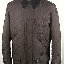 Barbour  Recent Brown Diamond Quilted 'Barnes Sportquilt' Barn Jacket Large Photo