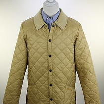 Barbour  Recent Gold Diamond Quilted 'Liddesdale' Barn Jacket Men's Small Photo