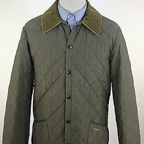 Barbour  Recent Light Brown Diamond Quilted 'Liddesdale' Barn Jacket Small Photo
