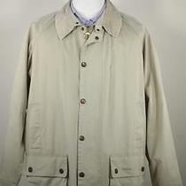 Barbour Recent Lightweight 'Beaufort' Tan Cotton Barn Jacket Coat Men's Large Photo