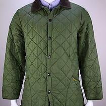 Barbour  Recent Mint Green Diamond Quilted Barn Jacket Men's Medium Photo