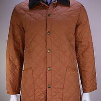 Barbour  Recent Orange Diamond Quilted 'Liddesdale' Barn Jacket Men's Medium Photo