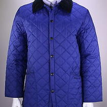 Barbour  Recent Royal Blue Diamond Quilted 'Liddesdale' Barn Jacket Medium Photo