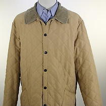 Barbour  Recent Tan Diamond Quilted 'Eskdale' Barn Jacket Men's Xl Photo